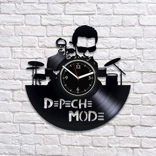 Depeche Mode Reloj De Pared con Disco De Vinilo Dave Gahan Art Disfruta del Arte del Silencio: Amazon.es: Hogar