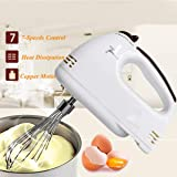 7 Speed Handheld Mixer Food Blenders Double Whisk Electric Egg Mixer Batter Beater Kitchen Cake Baking Helper Cooking…