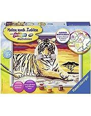 Ravensburger Malen nach Zahlen 28553- Majestätischer Tiger, Malset