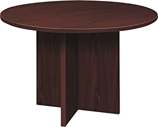 product image for HON LMC48DN Foundation Conference Table Round Flat Edge Profile, 47 inch Top, 29.5 inch X-Base, Mahogany