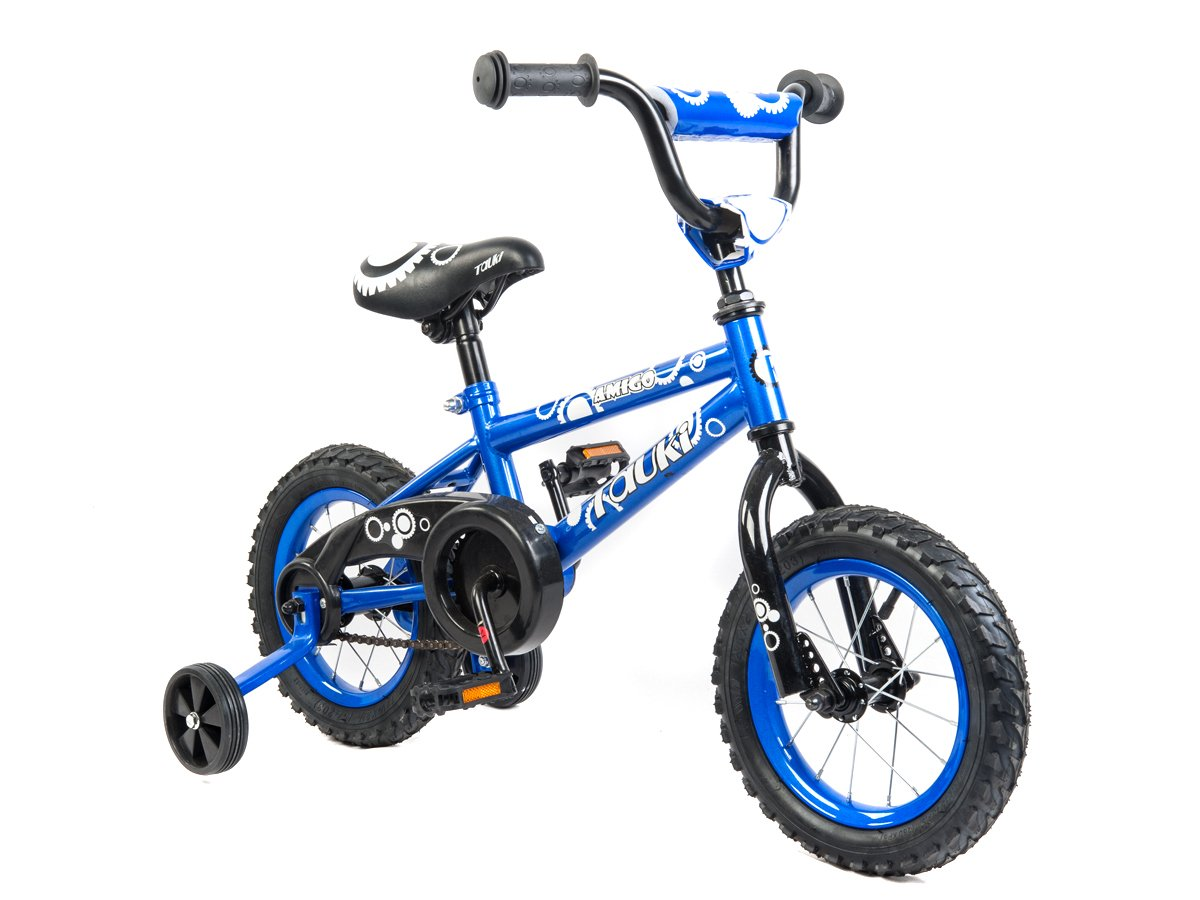 Tauki Kid Bike BMX Bike for Boys and Girls, 12 Inch, Blue, 95% assembled, for 2-5 Years Old, Gift for kids