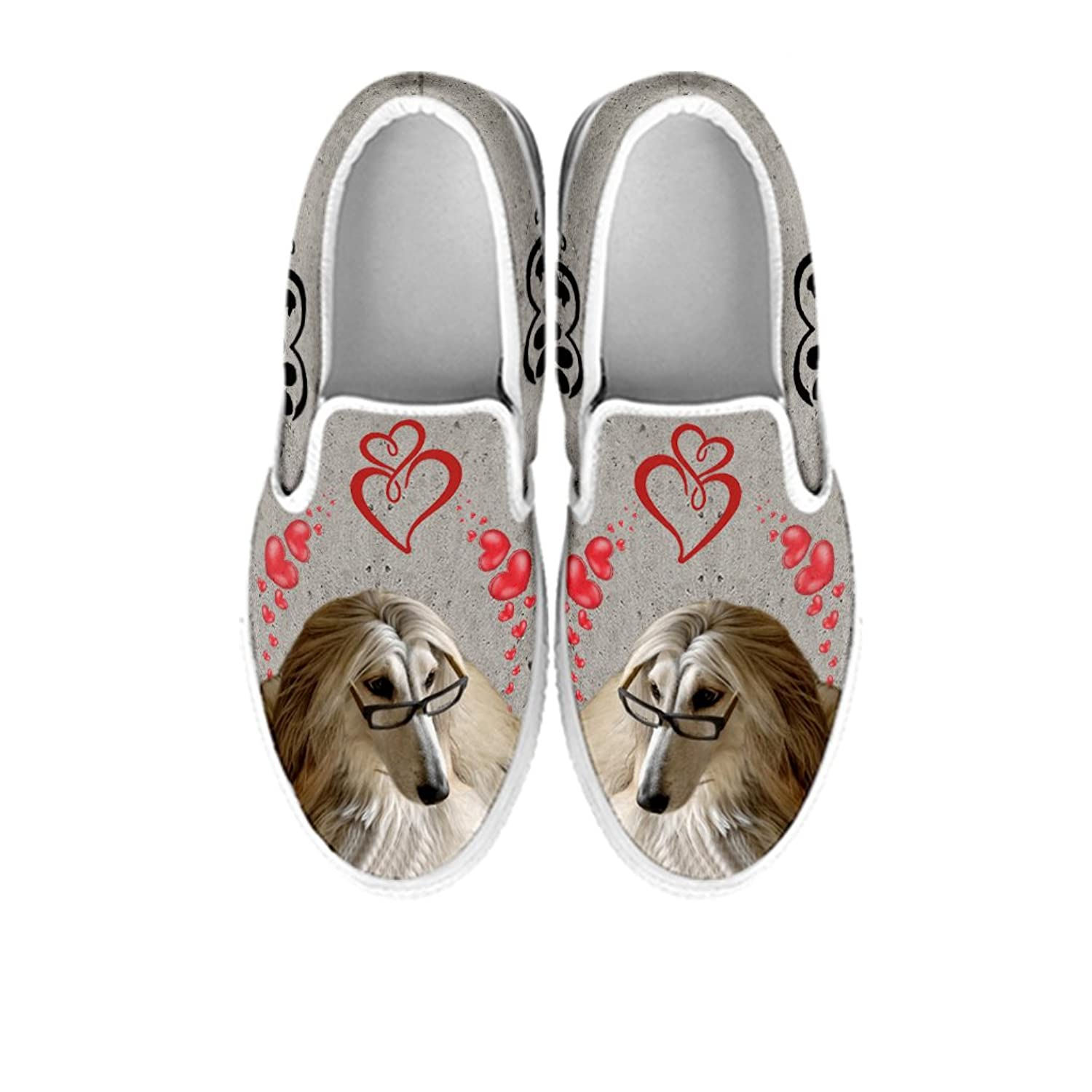 Pawlice Women's Slip Ons- Afghan Hound Dog Print Slip Ons Shoes For Women