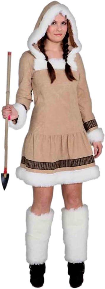 Orlob Disfraz de esquimal para mujer, gran calidad, no incluye ...