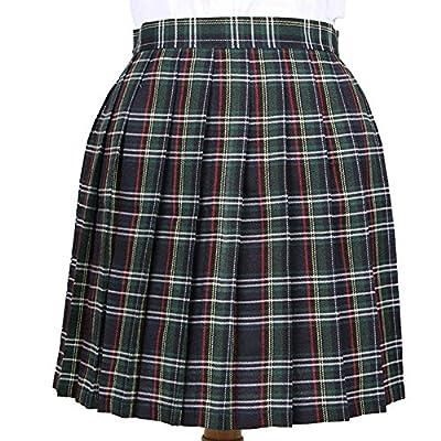 YoungG-3D Women Summer High Waist Casual Pleated Skirt Wind Cosplay Plaid Skirt Kawaii Student Skirts