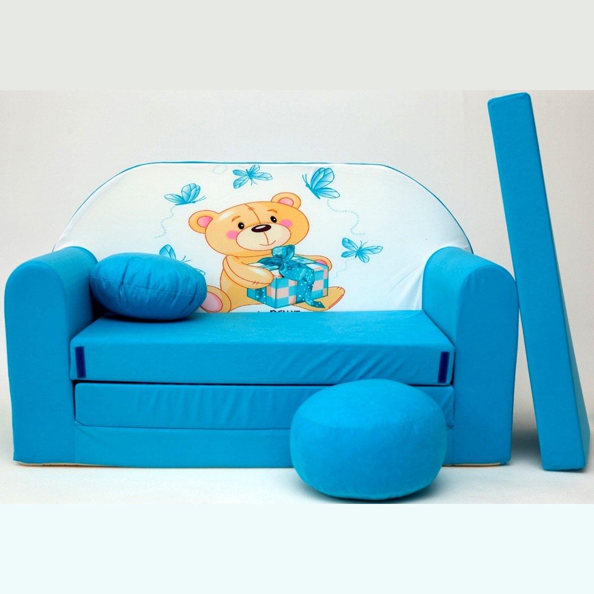 Kindersofa Spielsofa Minicouch aus Schaum Kindersessel Kissen Matratze Farbwahl 35