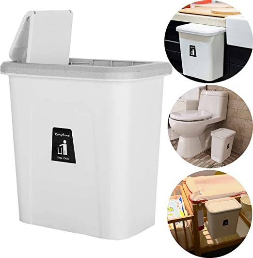 Kitchen Cabinet Door Hanging Trash Can Waste Baskets Push-top Trash Garbage Bin