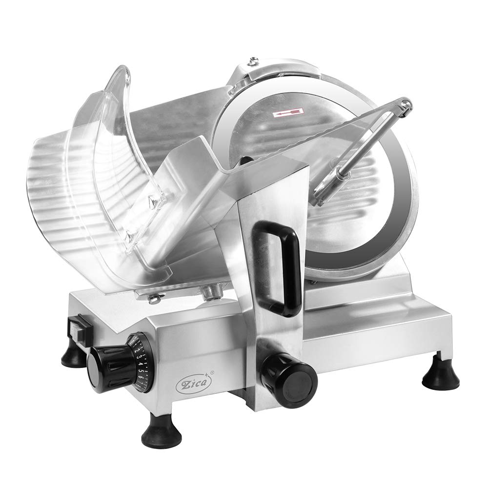 Zica 12'' Chrome-plated Carbon Steel Blade Electric Deli Meat Cheese Food Ham Slicer Commercial and for Home use ZBS-12A by Zica
