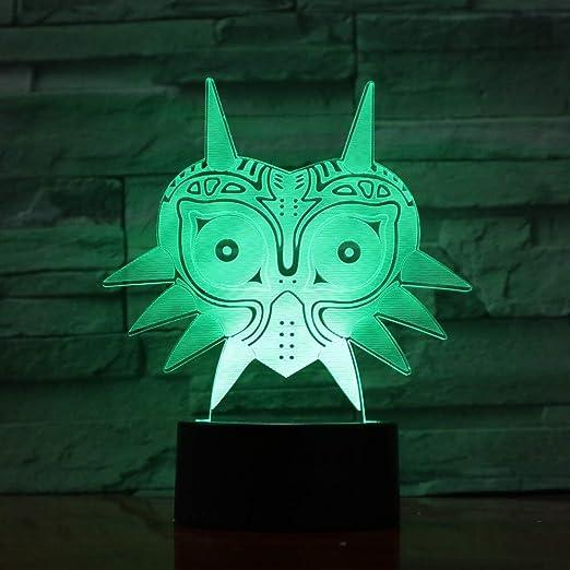 Legend of Zelda Figure Majoras Mask Lámpara de Lava 3D ...