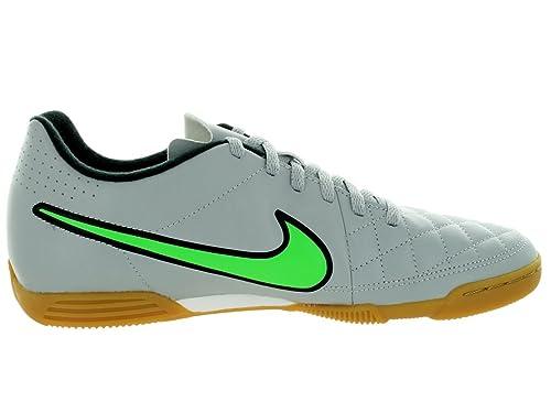 Amazon.com | Nike Men's Rio II IC Wolf Grey/Green Strike/Blk/Blk Indoor  Soccer Shoe 10 Men US | Soccer
