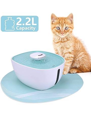 Iseebiz Fuente para Gatos/Perros, Bebedero Automatico con 2.2litro Circulante para Mascota con