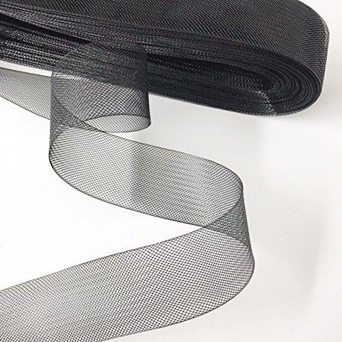 Stiff Polyester Black Horsehair Braid, Selling Per Roll / 42 yards (2