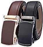 Men's Belt,Bulliant Slide Ratchet Belt for Men with Genuine Leather 1 3/8