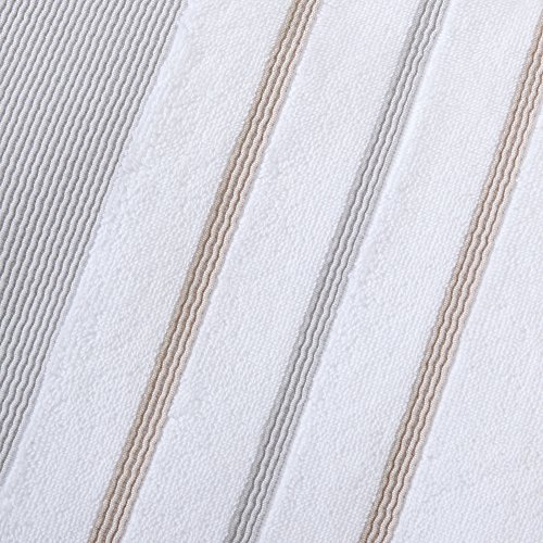6 piece luxury hotel spa 100 turkish cotton striped for Home spa brand towels