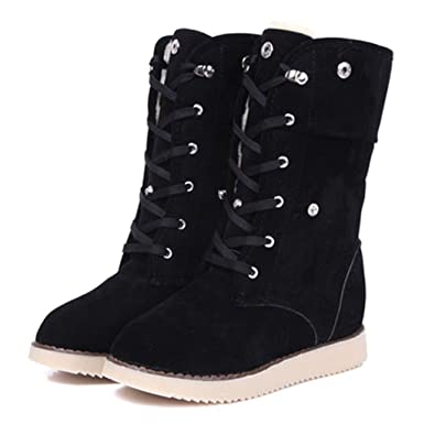 4c67bf9095aa5 eshion Womens Winter Ankle Boots Low Heels Fashion Boots Autumn Winter  Boots Shoes