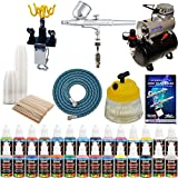MASTER G22 Multi-purpose Airbrush Kit With Airbrush Depot Compressor and 24 color Set of Paints