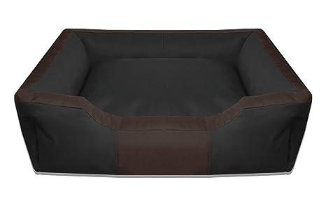 BedDog BRUNO negro/marron XXL aprox. 115x85cm colchón para perro, 16 colores,