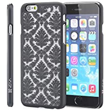 Vena [Tact Damask] Apple iPhone 6s / 6 Case [Ultra Slim Fit] Hard Rubber Coating Back Case Cover for Apple iPhone 6s / 6 (4.7-inch) - Black
