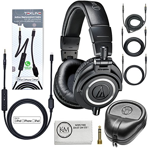 audio-technica-ath-m50x-professional-monitor-headphones-black-tekline-active-replacement-cable-headp