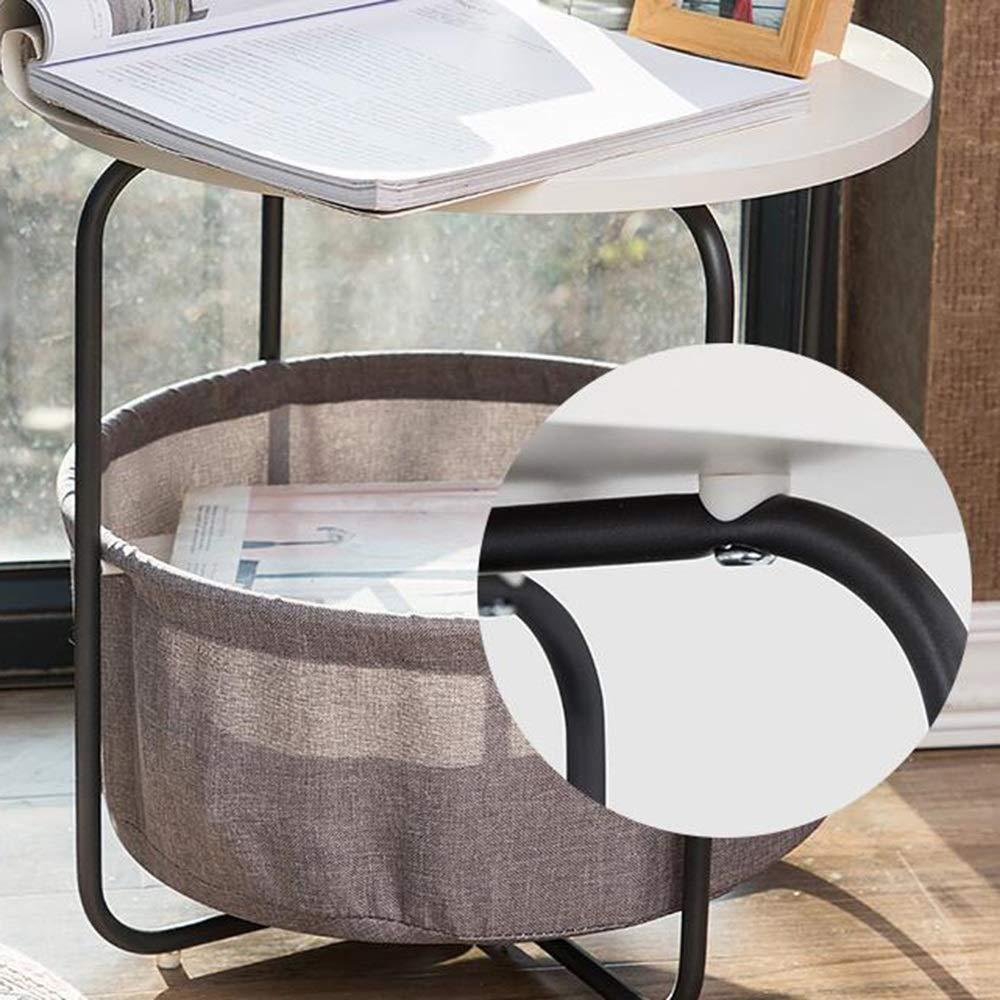 ZXC Mesa Almacenamiento pequeña Mesa ZXC de Centro Dormitorio Junto a la Cama Estante de Almacenamiento Acabado pequeña Mesa de Almacenamiento Mesa de café (Tamaño : A) 282546