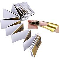 La Cabina 100pcs Ongles Forme pour Acrylique UV Gel Nail Art Conseils Extension Stickers
