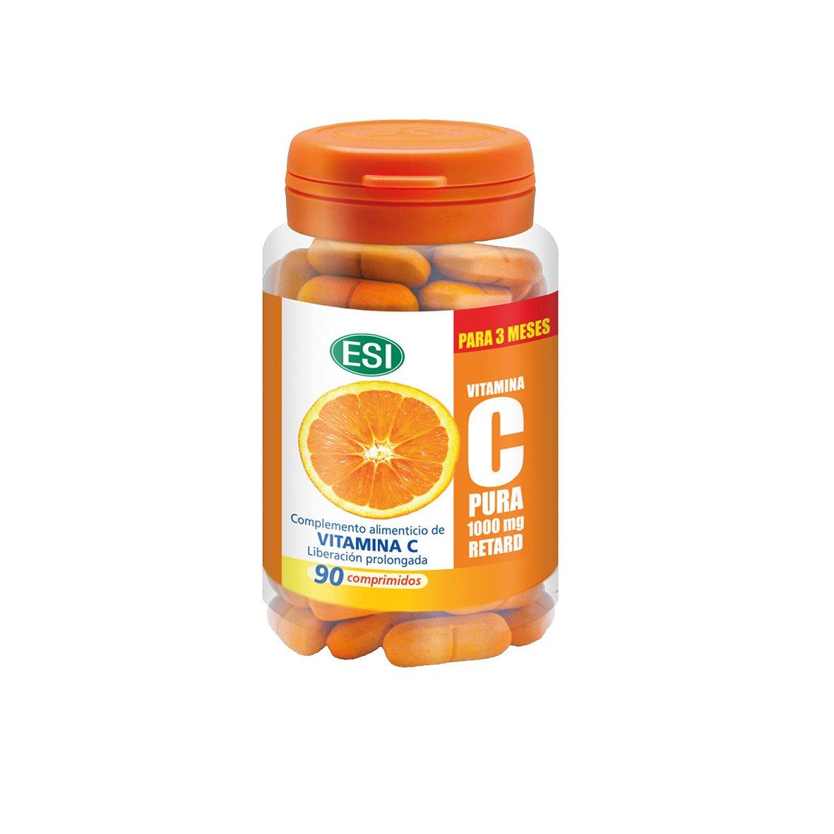 ESI Vitamina C Pura 1000 mg Retard - 90 Tabletas: Amazon.es: Salud y cuidado personal