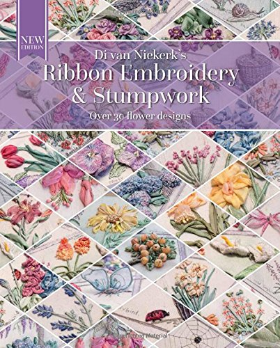 Book Cover: Ribbon Embroidery and Stumpwork: Original floral design with over 30 models