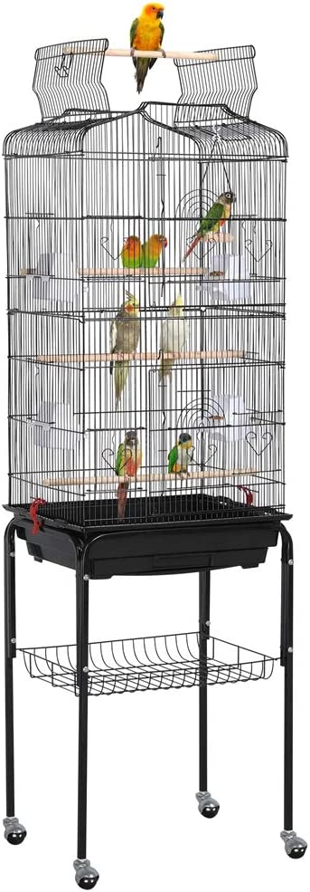 Yaheetech Jaula para Pájaros Jaula de Aves Canarios 46 x 35,5 x 158 cm