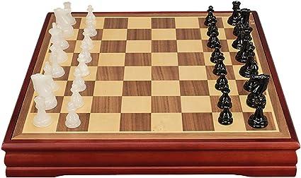 ZUOQUAN Set De Ajedrez, Piezas de ajedrez de Jade, Ajedrez Juego De Mesa Portátil Y Ligero, Ideal para Viajar, Plegable Y Fácil, Entretenimiento para Niños Y Adultos, 37.5 * 37.5CM: Amazon.es: Deportes