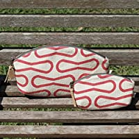 Organic Red Loops Petal Pouch Set