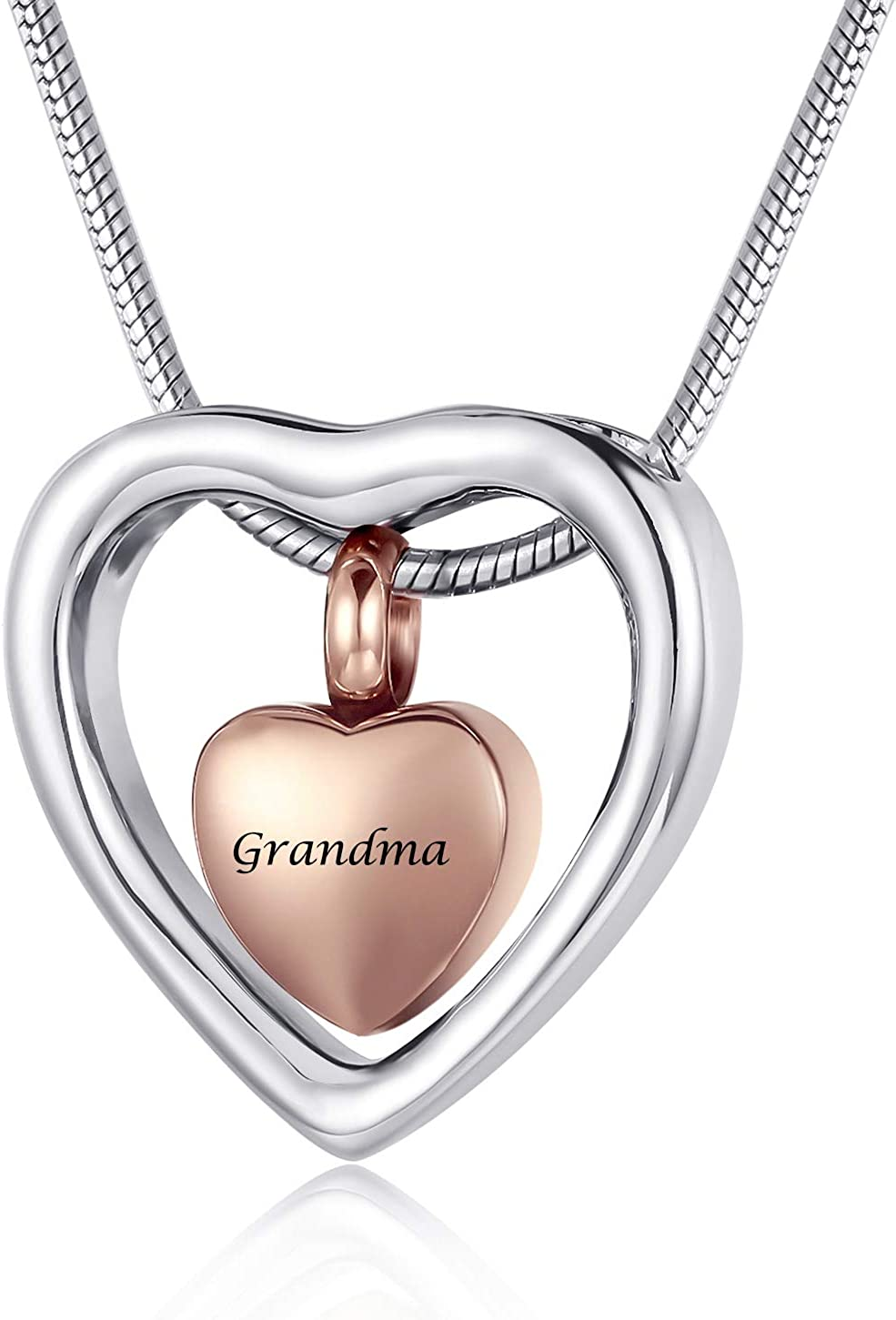 Cremation Necklace for Women Tube Cremation Jewelry for Ashes Ashes Necklace Dad Mom Baby Son Brother Grandpa A101 Urn Necklace for Ashes