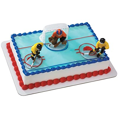 Hockey FaceOff DecoSet Cake Decoration: Toys & Games
