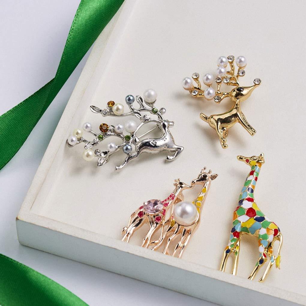 Royalr Encantador de la Historieta de la Jirafa broches Mujeres de la joyer/ía Animal Linda Broche Regalo de la Manera ni/ños exquisitos Broches