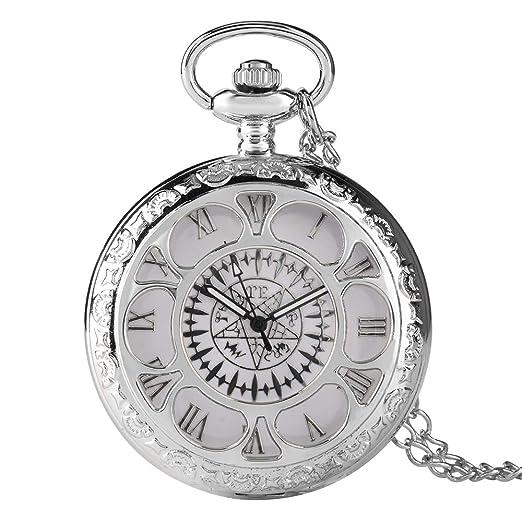 Reloj de Bolsillo Antiguo Kuroshitsuji Negro con diseño mágico Reloj de Bolsillo para Hombres de Cuarzo Casual Reloj de Bolsillo Regalo - dgsdrhs: ...