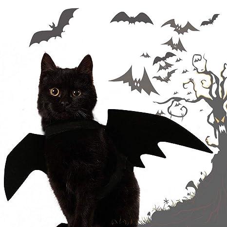 FOONEE Alas para Gatos, Disfraz de Halloween, para Mascotas, Bate para Cachorros,