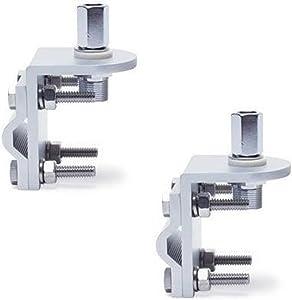 Pro Trucker (Lot of 2) 3 Way Aluminum Cb or Ham Antenna Aluminum Mirror Mount with Stud