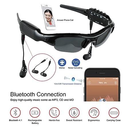 62366c97ebb7 BJESSENCE 1 PC Wearable Camera HD 1080P Sport Sunglasses Pinhole Lens  Eyewear Camcorder Bluetooth 4.1 MP3