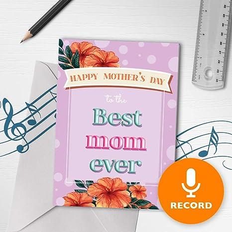 Amazon.com: Tarjeta de felicitación musical para el día de ...