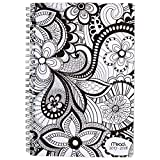 Mead Academic Weekly / Monthly Planner, July 2017 - June 2018, 5-1/2'' x 8-1/2'', Wirebound, Zendoodle, Design Will Vary (CAW41310)