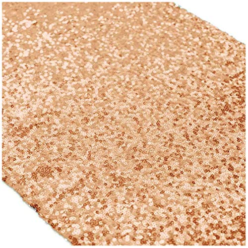 Rose Gold Bridal Shower Decorations 5Pcs Rose Gold 12''x72'' Sequin Table Runners Rose Gold Party Supplies ()
