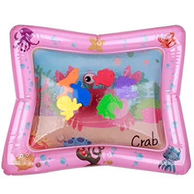 Les yeu Tummy Time Water Play Mat,Water Filled Play Mat,Tummy Time Baby Water Mat for 3-12 Months 23.6x19.7in: Toys & Games