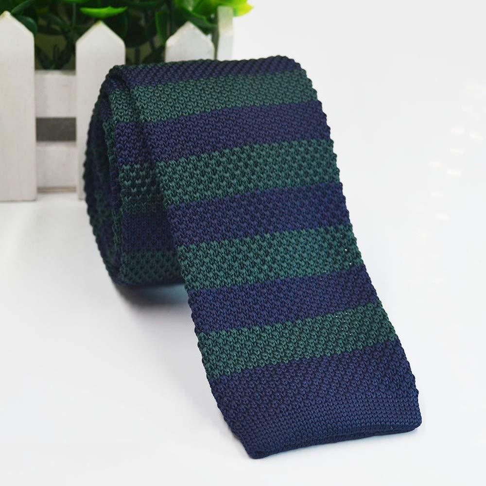Wangwang454 Corbata De Punto Plana A Rayas 5 Cm Estrecha Corbata ...