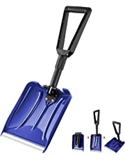 ORIENTOOLS Snow Shovel with D-Grip Handle and Durable Aluminum Edge Blade, an Ideal Accessory for Your Car, Truck, Recreational Vehicle, etc.