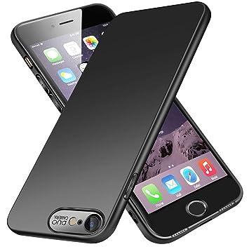 VIVK Funda Carcasa iPhone 8 iPhone 7, Fundas Carcasas Case Caso para iPhone 8 iPhone 7, Negro, Ultra-Delgado, Anti-Rasguño, Anti-Golpes, ...