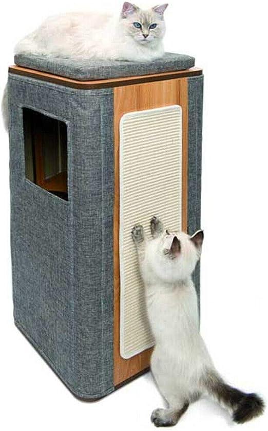 EQT-TEC Árbol rascador Gatos, Cueva para Gatos, Cueva rascador, Tronco para Gatos, Cama para Gatos: Amazon.es: Productos para mascotas
