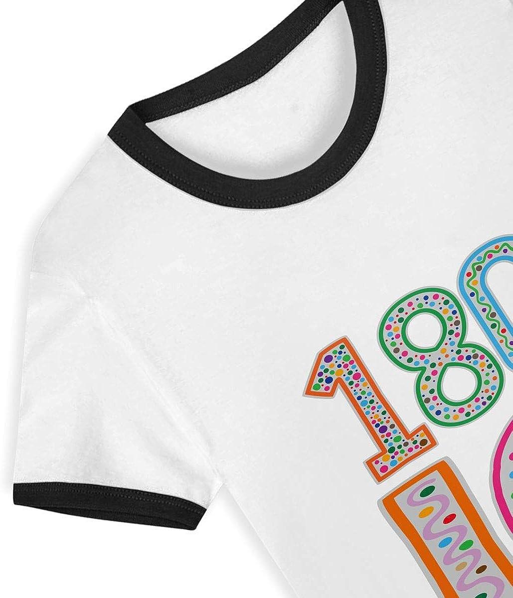HIGASQ Unisex Baby 180 IQ O Neck Toddlers Short Sleeve Baseball T Shirt for 2-6 Boys Girls