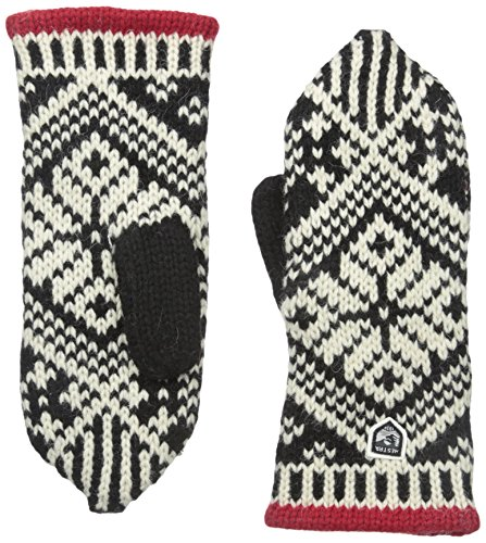ittens: Nordic Knit Winter Gloves, Black/Off White, 7 ()