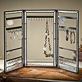 J Devlin Dis 200-3 Vintage Jewelry Display Stained Glass Organizer Storage Tower Folding