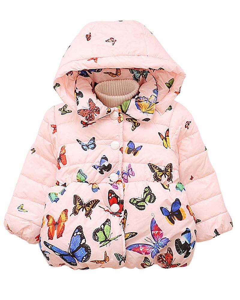 Bodysuits Hatoys Baby Boys Girl Winter Leopard Print Hooded Windproof Warm Jacket Coat Tops