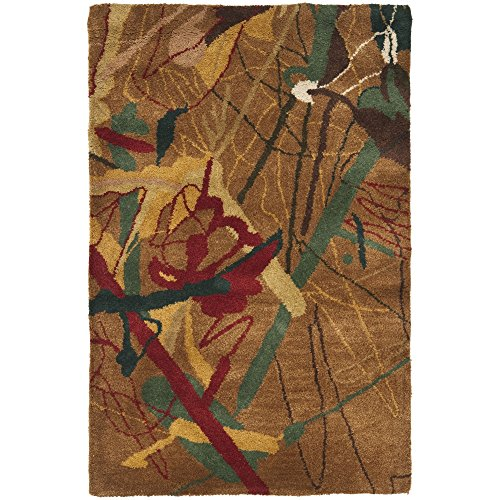 Safavieh Rodeo Drive Collection RD951A Handmade Modern Abstract Art Brown and Multi Wool Area Rug (2' x 3')