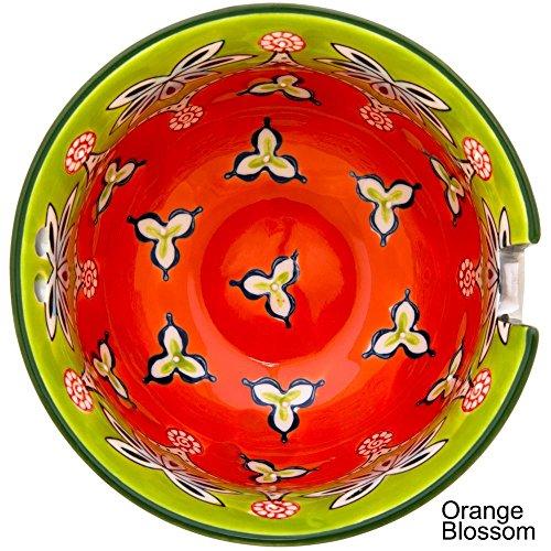 Touch of Silver or Gold Floral Ramen Bowl & Chopsticks (Gold - Orange Blossom)